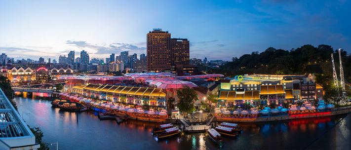 clarke quay best night view singapore